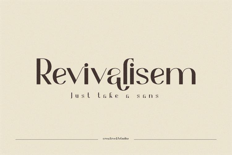 Revivalisem Sans Serif Font example image 1