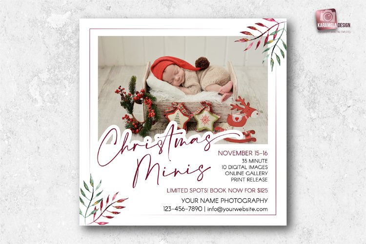 Christmas Minis Marketing Board example image 1