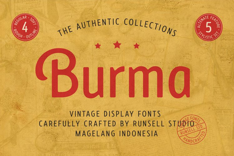 Burma Vintage Font Collection example image 1