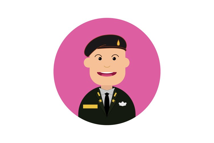 Icon Character Army Black Beret Male example image 1