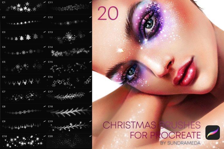 Christmas Makeup Brushes Procreate example image 1