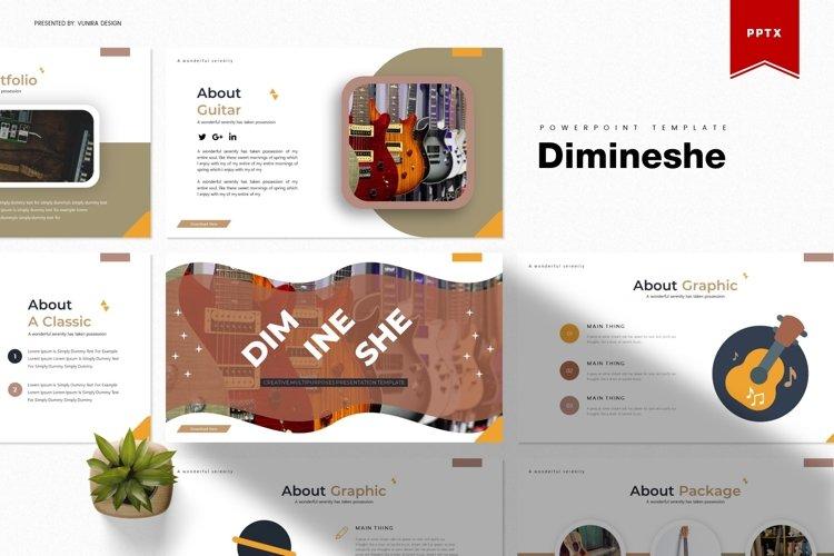 Dimineshe | Powerpoint, Keynote, GoogleSlide Template example image 1