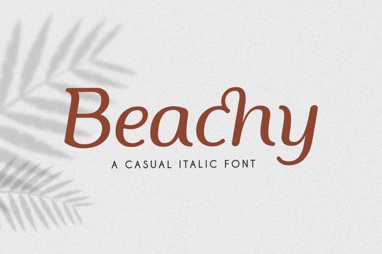 Beachy Italic example image 1