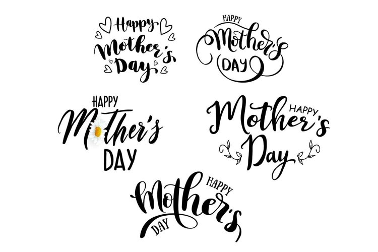 Happy Mother's day lettering set. Lettering for holiday example image 1