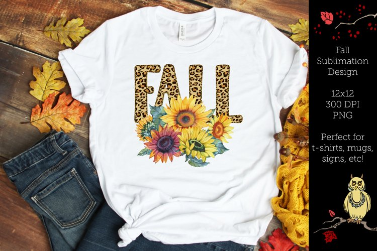 Fall Sunflower- Fall Sublimation Design example image 1