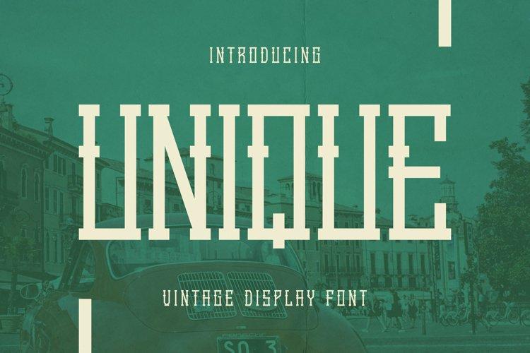 Unique Font example image 1
