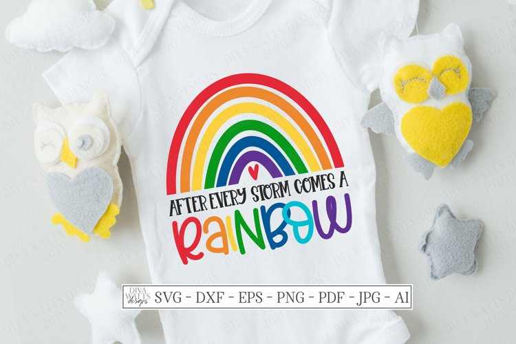 After Every Storms Comes A Rainbow - Baby - Miscarriage SVG example image 1