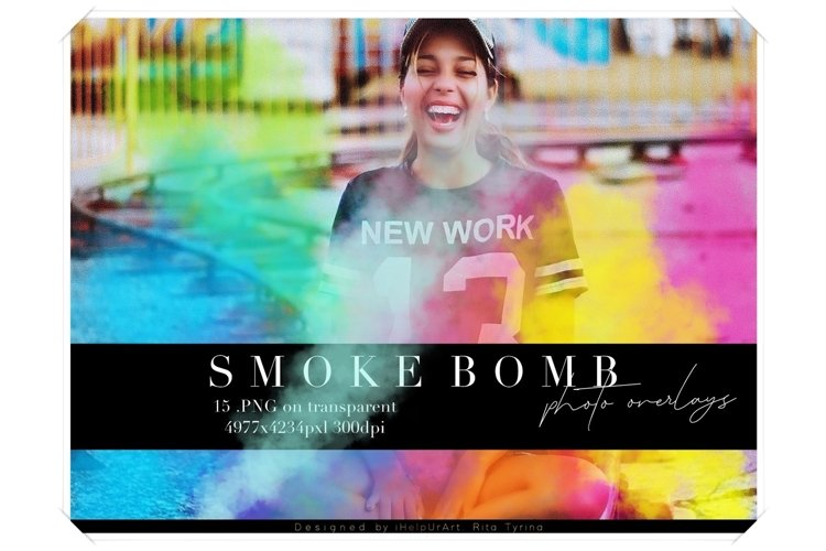 Smoke Photo Overlays - Colorful Smoke Clipart example image 1