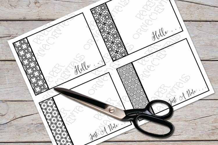 Flat Note Card, Post Card, Black And White Pattern