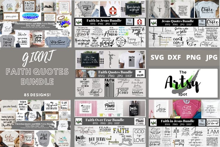 MEGA Faith quotes Bundle, Christian quotes bundle, faith svg