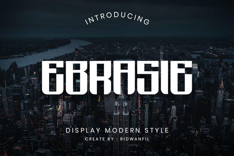 Ebrasie font example image 1