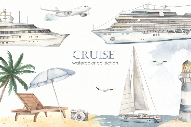 Cruise Watercolor collection example image 1