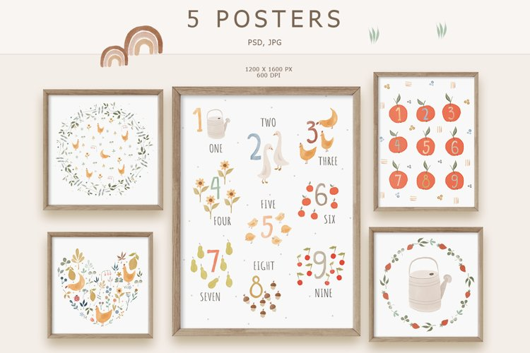Numbers Prints, Educational Prints for Kids example image 1