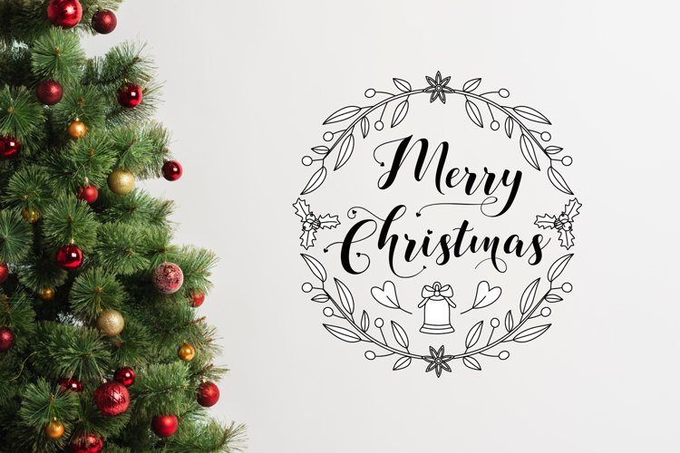 Merry Christmas SVG | Christmas SVG File example image 1