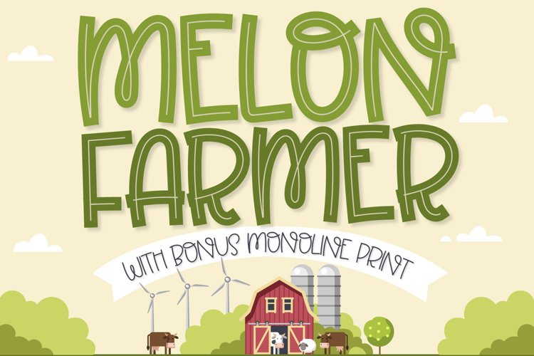 Melon Farmer - An Inline and Print Duo! example image 1