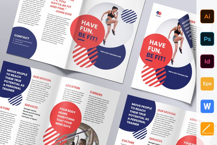 Fitness Trainer Coach Brochure Bifold example image 1