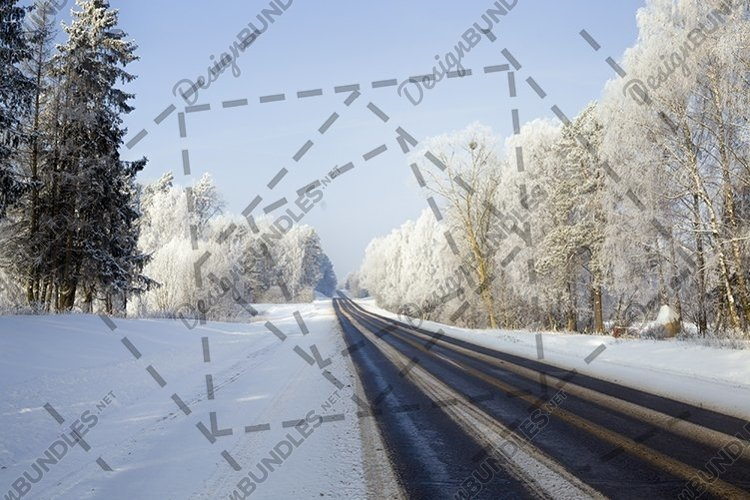 Winter road freezing. example image 1