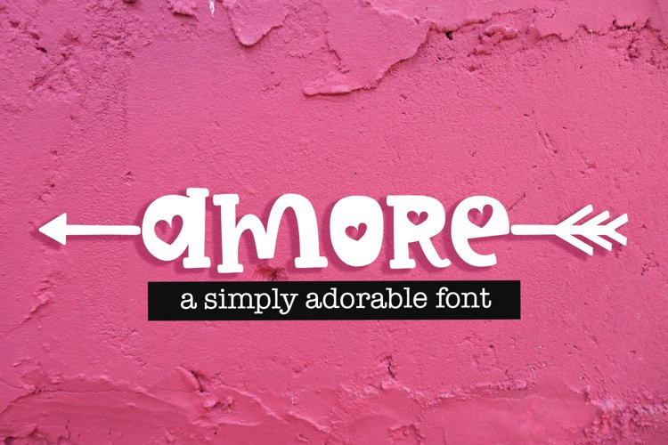 Amore Hearts Valentine's Crafters Font example image 1