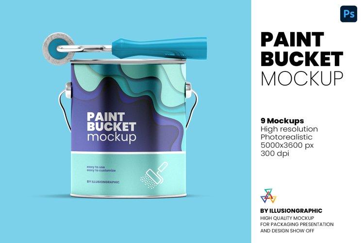 Paint Bucket Mockup - 9 Views
