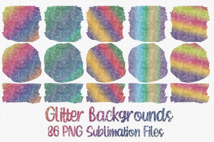 Glitter Sublimation Bundle | 36 Sublimation Backgrounds