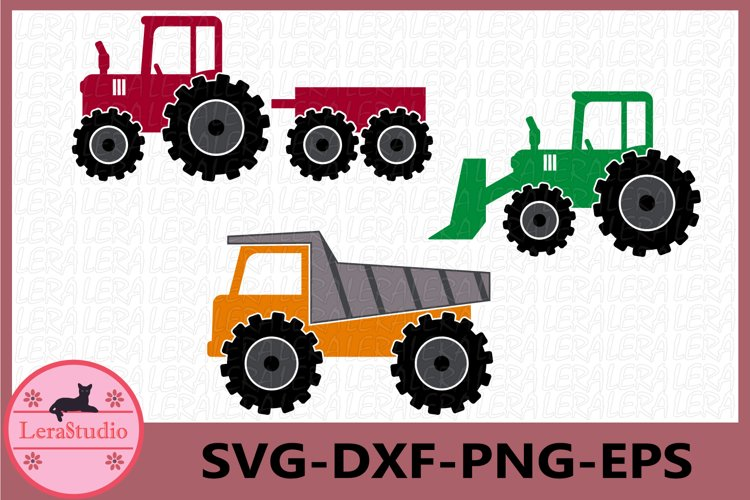 Farm Tractor Svg, Truck SVG, Tractor Clipart, Vinyl Decal
