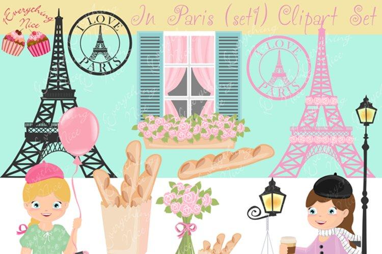 In Paris Clipart Set 1
