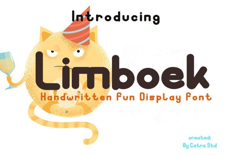 Limboek Handwritten Display Font example image 1