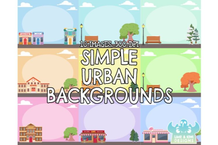 Simple Urban Backgrounds - Lime and Kiwi Designs