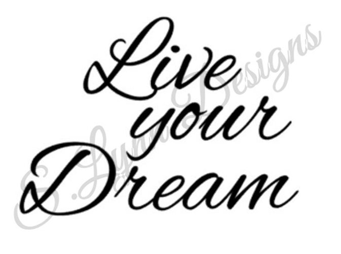 Live Your Dream SVG File example image 1