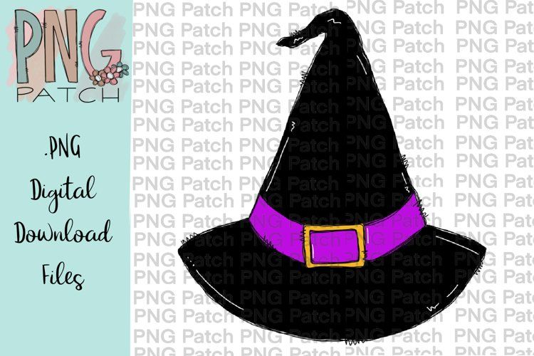 Witch Hat, Halloween PNG File, Fall Sublimation Design example image 1