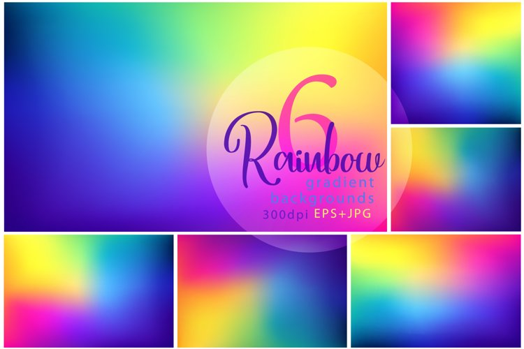 6 of Rainbow gradient backgrounds example image 1