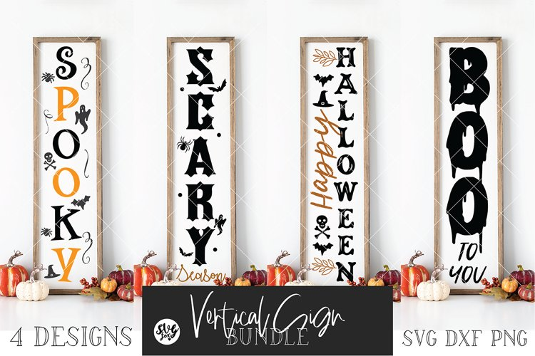 Halloween Vertical Sign Bundle Vol. 2 SVG DXF PNG example image 1