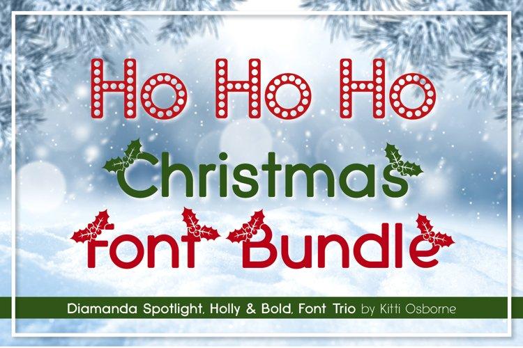 Spotlight, Holly and Bold, Diamanda Christmas Trio Bundle example image 1