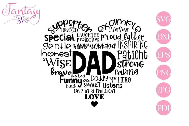 Dad Word Art - Svg Cut Files example image 1