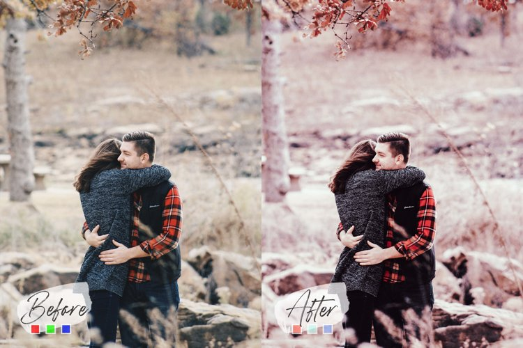 5 Valentine Mood Photoshop Actions, ACR, LUT Presets example image 1
