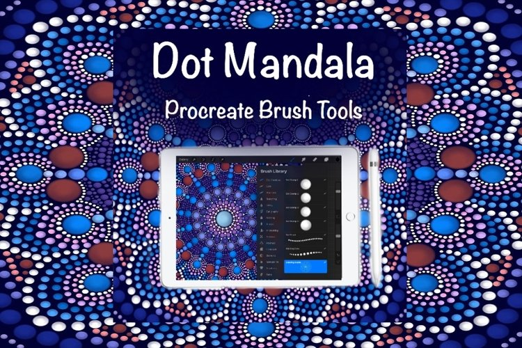 Dot Mandala Brush Set For Procreate