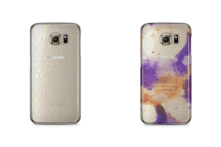 Samsung Galaxy S6 3d Crystal Mobile Case Design Mockup 2015 example image 1