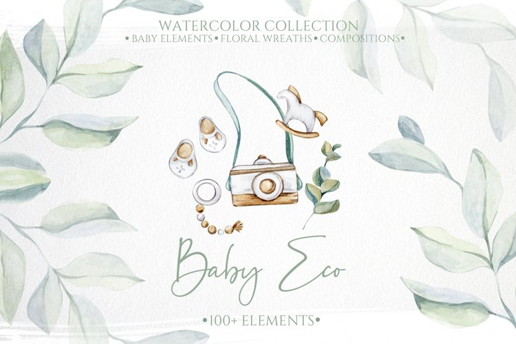 Watercolor Baby Eco Collection