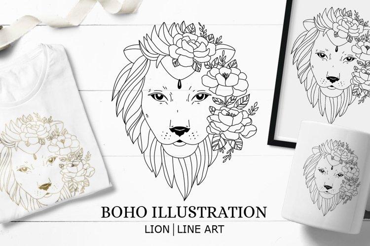 Lion SVG / Lion illustration