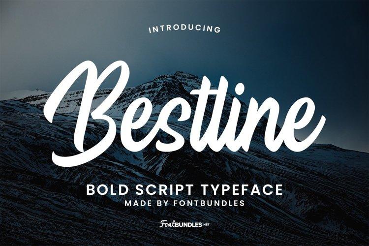 Web Font Bestline example image 1