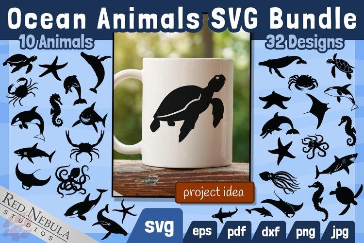 Ocean Animals SVG Bundle | 32 Designs of 10 Animals Sea Life