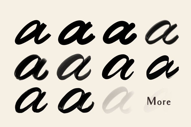 Procreate Lettering Brushes - Free Design of The Week Design1