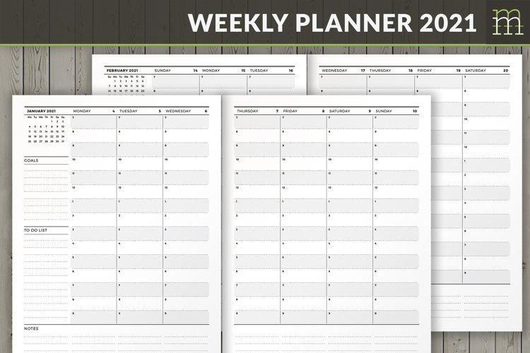 Weekly Calendar 2021