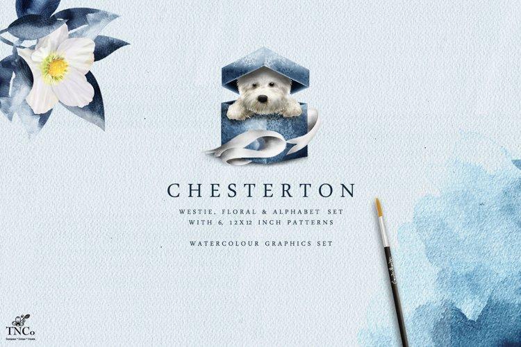 Westie Dog Illustration Set + Bonus Patterns & Alphabet example image 1