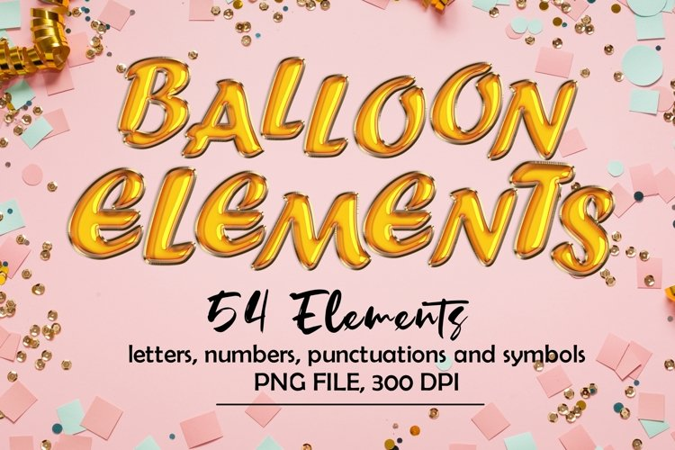 Balloon Alphabets Clipart, Balloon Foil Letters example image 1