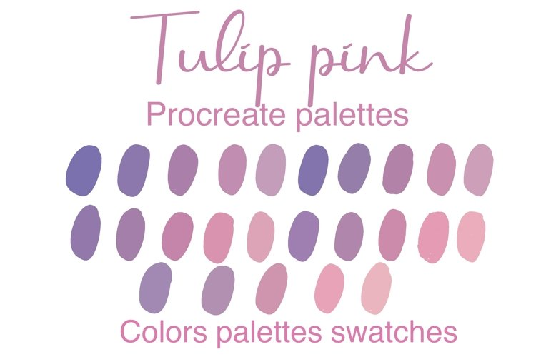 TulipPink Procreate palettes colors swatches example image 1