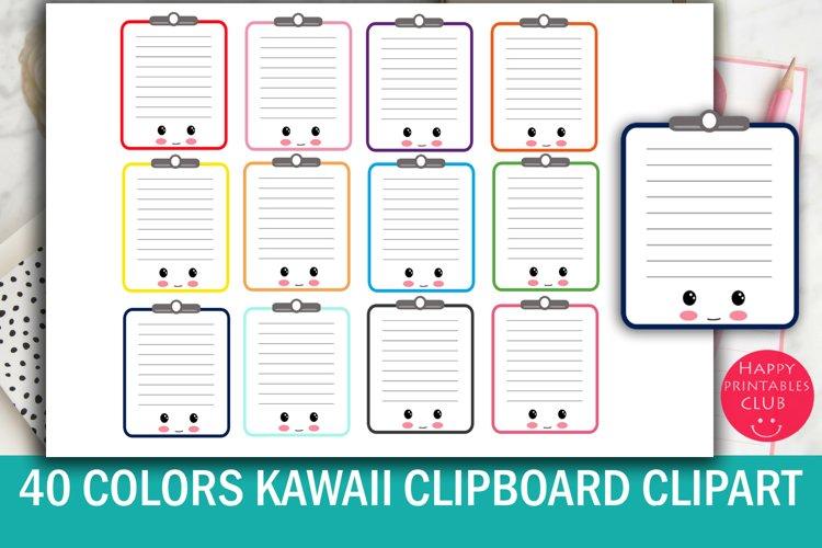 40 Cute Kawaii Clipboard Clipart- Clipboard Clipart Images