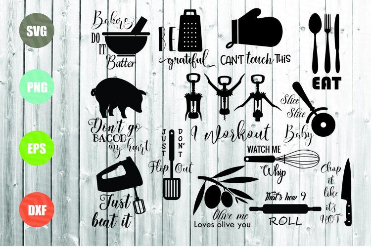 Kitchen SVG Bundle, Kitchen Towel Designs example image 1