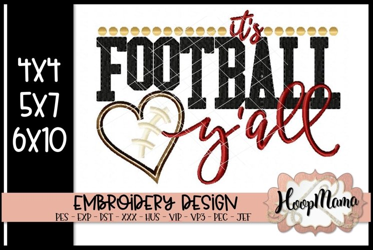 It's Football Y'all - Football Embroidery example image 1