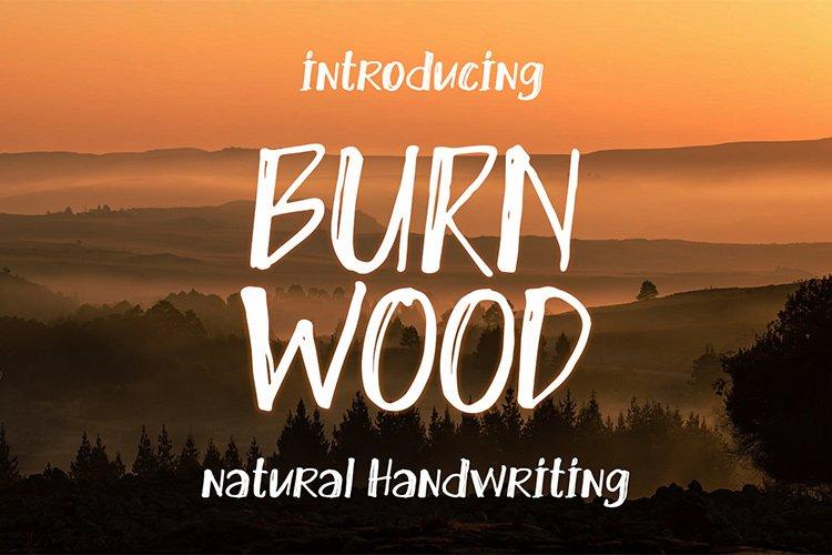 Burn Wood || natural handwriting example image 1